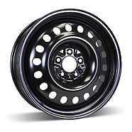 Steel Rim Wheel, Black