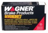 Wagner Severe Duty Brake Pad Set, Front | National