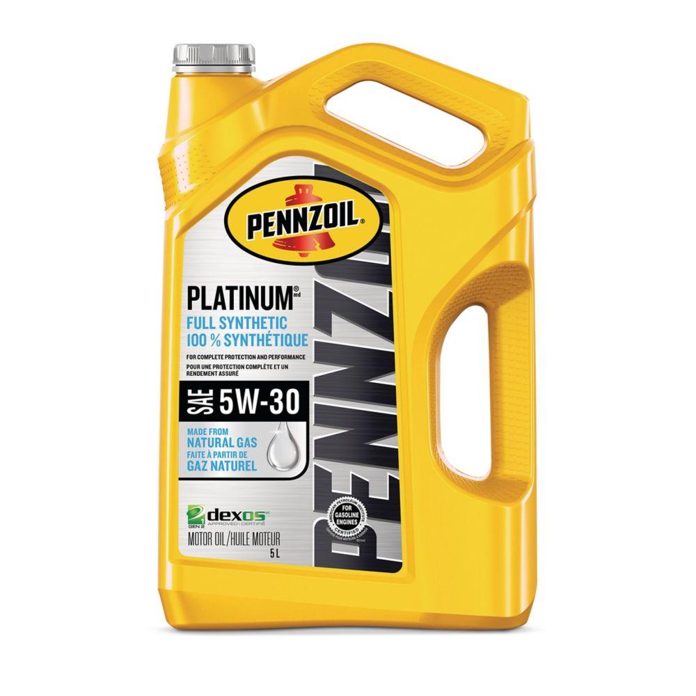 Pennzoil Platinum SyntheticEngine Oil, 5-L
