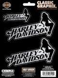 Jeu de décalcomanies Harley-Davidson Sitting Lady