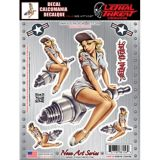 Nose Art Spark Plug Pin-Up Girl Car Decal | Lethal Threat | Canadian Tire