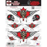 Flying Canada Skull Car Decal | Lethal Threat | Canadian Tire
