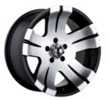Ion Alloy Style 138 wheel in Black with Machined Face | ION | Canadian Tire
