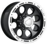 Ion Alloy Style 174 wheel in Black with Machined Lip | ION