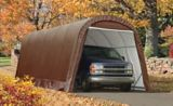 Round Style Instant Car Garage, 12x24x10-ft | Shelter Logic