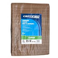 Certified Standard Green and Tan Tarp, 12 x 16-ft
