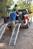 Steel Rung Folding Arched Loading Ramp, Pair, 84-in | PRIME1 Automotive Accessories
