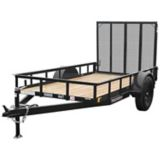 Landscape Utility Trailer with Metal Ramp, 5 x 10-ft |