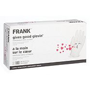 Frank Multi Purpose Disposable Vinyl Gloves, 100-pk