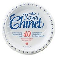 Royal Chinet Luncheon Paper Plates, 8.75-in, 40-pc