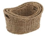 Seagrass 3-piece Curved Basket | Seagrass