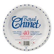 Royal Chinet Dinner Paper Plates, 10.38-in, 40-pc