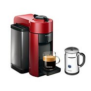 Nespresso VertuoLine Evoluo Espresso & Coffee Maker Bundle, Red
