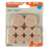 Likewise Assorted Round Beige Heavy Duty Felt Pads | Certified