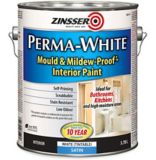 Zinsser Mould & Mildew Interior Latex Paint, Satin, 3.7-L | Zinsser