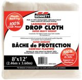 Bennett Laminated Canvas Drop Cloth, 8-ft x 12-ft | Bennett