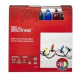 25 Outdoor C7 Full Size Powersaver Incandescent Christmas Lights, Assorted Colours | Home Collection