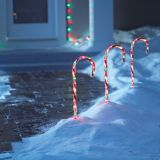 Illuminated Candy Cane Lawn Stake, 28-in | Holiday Collection