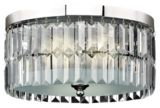 For Living Charlotte Chrome Flush Mount, 2-Light | For Living