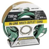 Electratrac Heavy Duty Multi-Outlet Cord, 14-gauge,  25-ft | Electratrac by Cerrowire