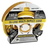 Electratrac Heavy Duty Multi-Outlet Cord, 12-gauge, 25-ft | Electratrac by Cerrowire