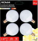 Ampoules boules Sylvania 25 W G16.5, blanc, paq. 4 | NOMA | Canadian Tire