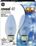 Ampoules incandescence GE Reveal 40 W, paq. 2   GE   Canadian Tire