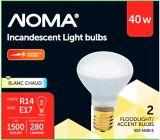 Ampoules incandescentes de projecteur R14 40W NOMA, paq. 2 | NOMA | Canadian Tire