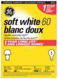 Ampoules incandescence GE 60 W A19 longue durée, blanc doux, | GE | Canadian Tire