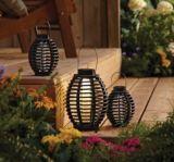 Lampes solaires décoratives, osier, paq. 3