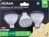 Ampoule à DEL NOMA GU5.3, 50W, intensité variable, blanc doux, paq. 3   NOMA   Canadian Tire