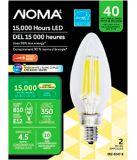 Ampoules à DEL NOMA 40 W E12, blanc doux, paq. 2 | NOMA | Canadian Tire