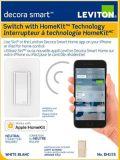 Interrupteur intelligent Leviton Decora technologie HomeKit | Leviton | Canadian Tire