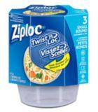 Ziploc Small Twist n' Lock Containers, 3-ct | Ziploc | Canadian Tire