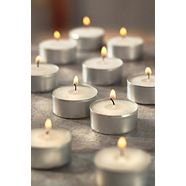 Yummi Unscented Tea Lights, White, 100-pk