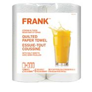 Frank Strong & Thick Paper Towel, 2 Huge Rolls