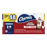 Charmin Ultra Strong Double Toilet Paper, 24-rolls