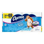 Charmin Ultra Soft Double Toilet Paper, 24-rolls