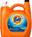 Tide 2x Cold Water Liquid Laundry Detergent, 72 Load | Tide