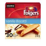 Dosettes K-Cup Folgers, biscotti à la vanille, paq. 30   Folgers   Canadian Tire