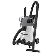 MAXIMUM Stainless Steel Wet Dry Vacuum, 30-L