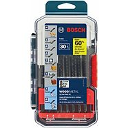 Bosch T-Shank Wood/Metal Jigsaw Set, 30-pc