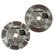 MAXIMUM Diamond Blade, 4.5-in, 2-Pk