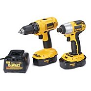 Perceuse et tournevis à percussion DEWALT, 18 V, Ni-Cd