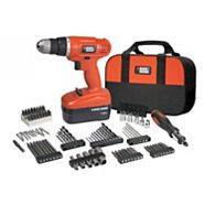 Black & Decker 18V NiCad Cordless Drill with 100 Piece Accessory Kit