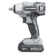 MAXIMUM 20V Max Li-Ion Cordless Impact Wrench, 1/2-in
