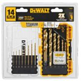 DEWALT 14-piece Titanium Pilot Point Drill Bit Set | Dewalt