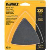 Papier abrasif autoagrippant DeWALT pour outil oscillant, triangle, grain 220, paq. 12 | Dewalt | Canadian Tire