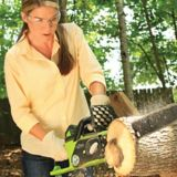 Greenworks 40V Lithium Ion Brushless Cordless Electric Chainsaw,16-in | GREENWORKS