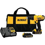 DEWALT 20V Lithium-Ion Drill/Driver, 1/2-in